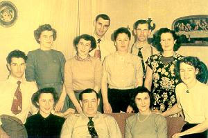 Lux family, Thanksgiving 1949.